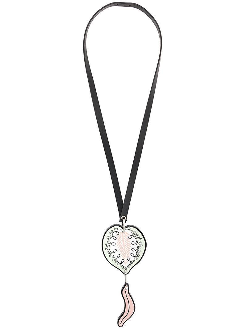 leaf drop necklace - Black Marni CT5LAH4