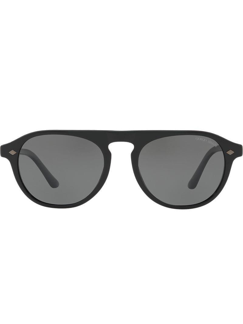 1465f3ccb7 Giorgio Armani Frames Of Life Sunglasses in Black for Men - Lyst