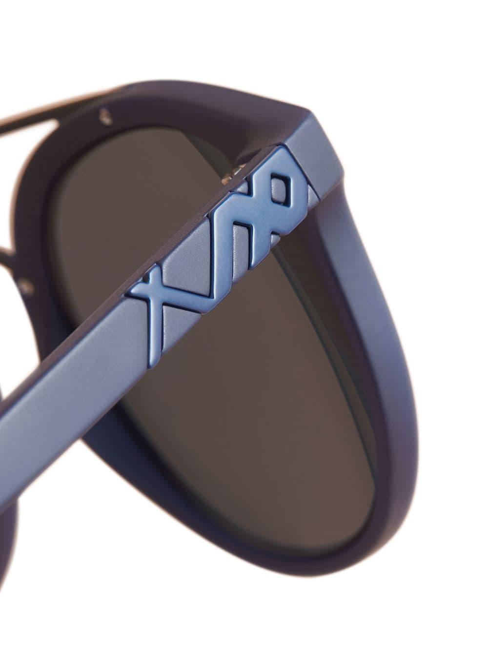 35c42d77c54c Lyst - Burberry Top Bar Square Frame Sunglasses in Blue