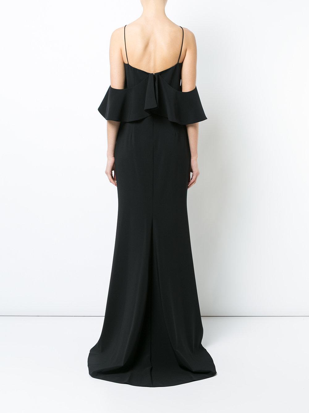 cold shoulder gown - Black Christian Siriano okFfKm