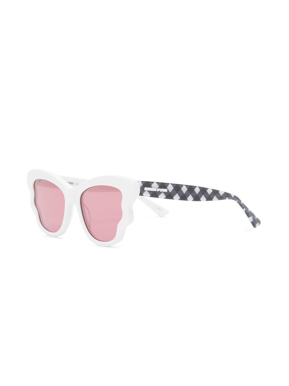 check detail sunglasses - White Alexander McQueen Eyewear Shhhyx