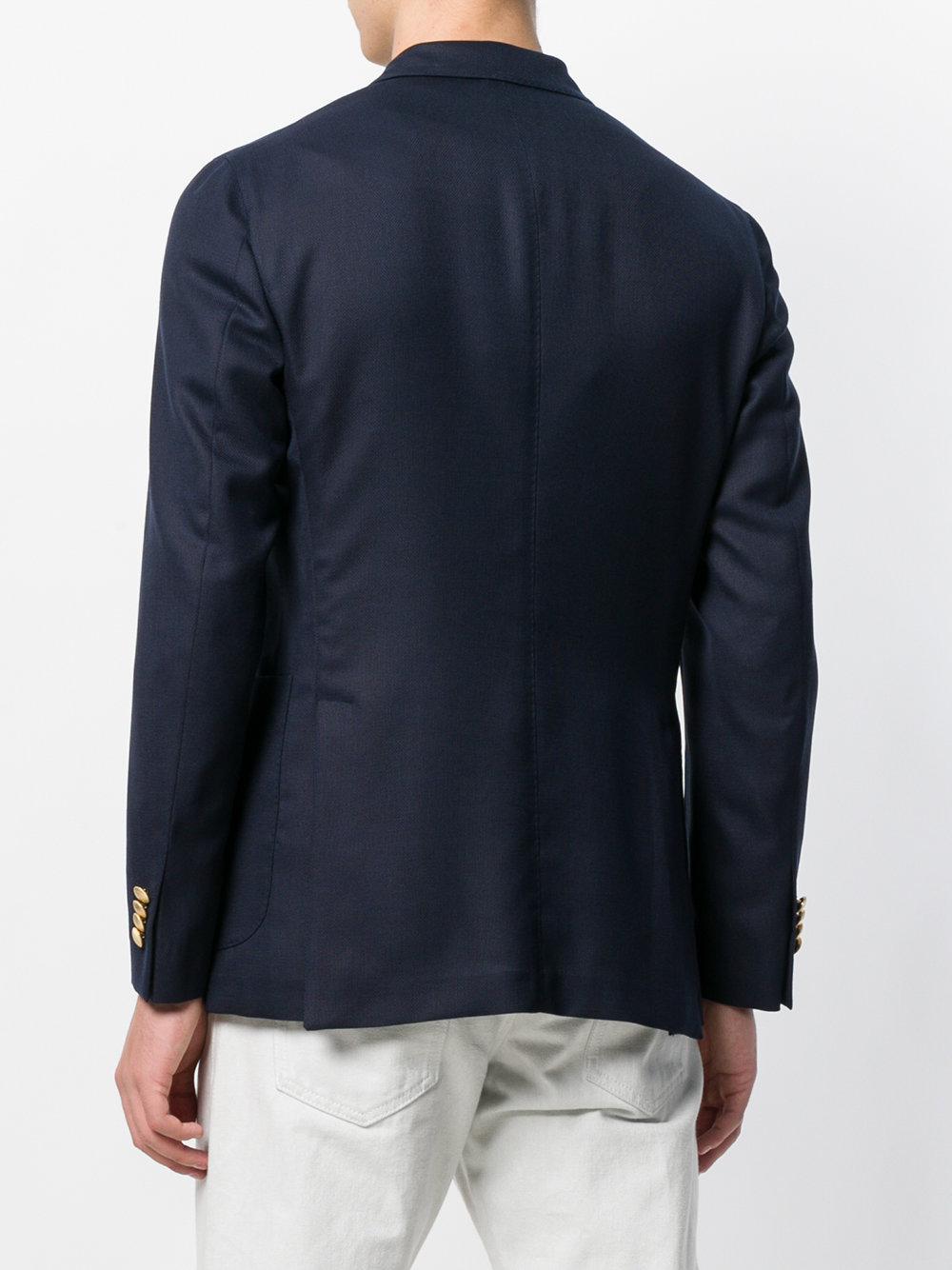 Boglioli Wool Double Breasted Blazer in Blue for Men
