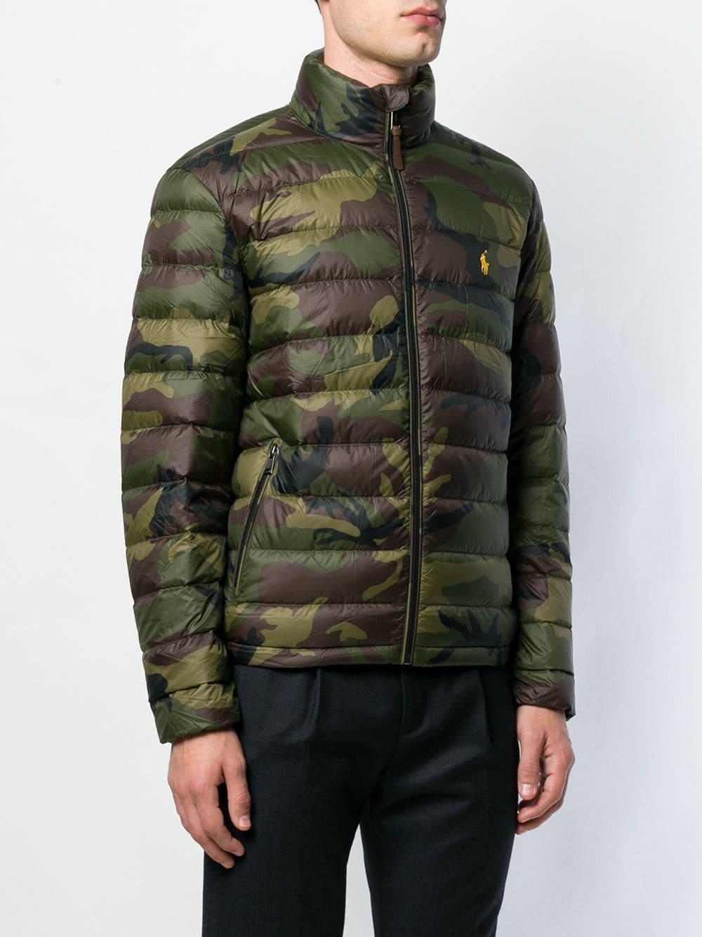 Polo Ralph Lauren Camouflage Padded Jacket in Green for ...