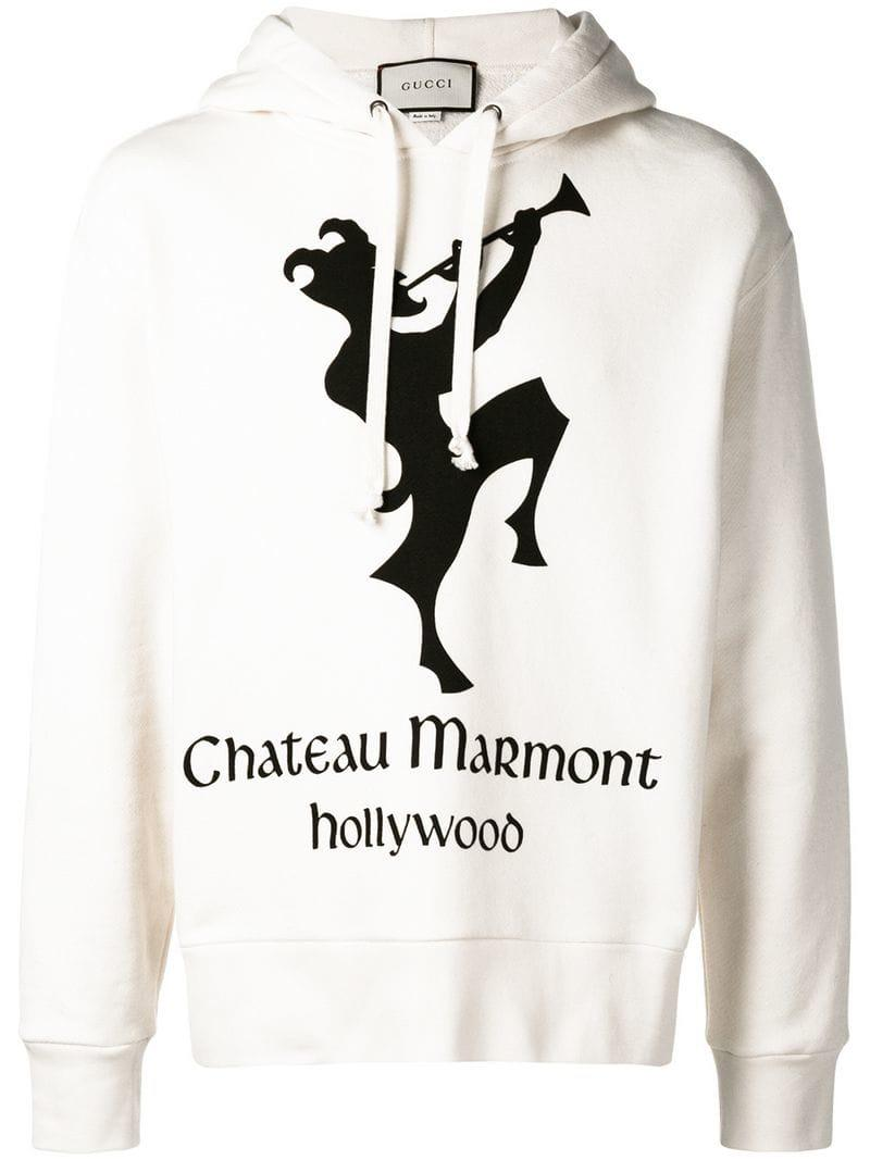 51c04064699 Lyst - Gucci Hoodie With Chateau Marmont Print for Men - Save 21%