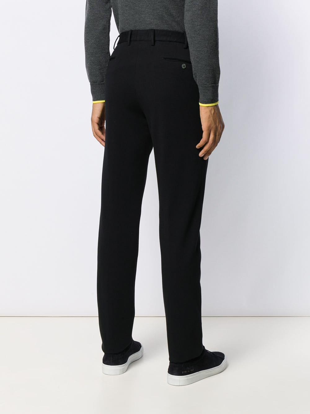 PT01 Synthetisch Broek Met Toelopende Pijpen in het Zwart voor heren