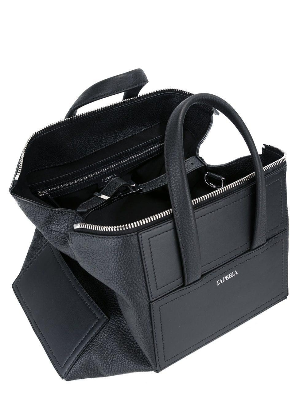 La Perla Leather 'daily' Tote in Black