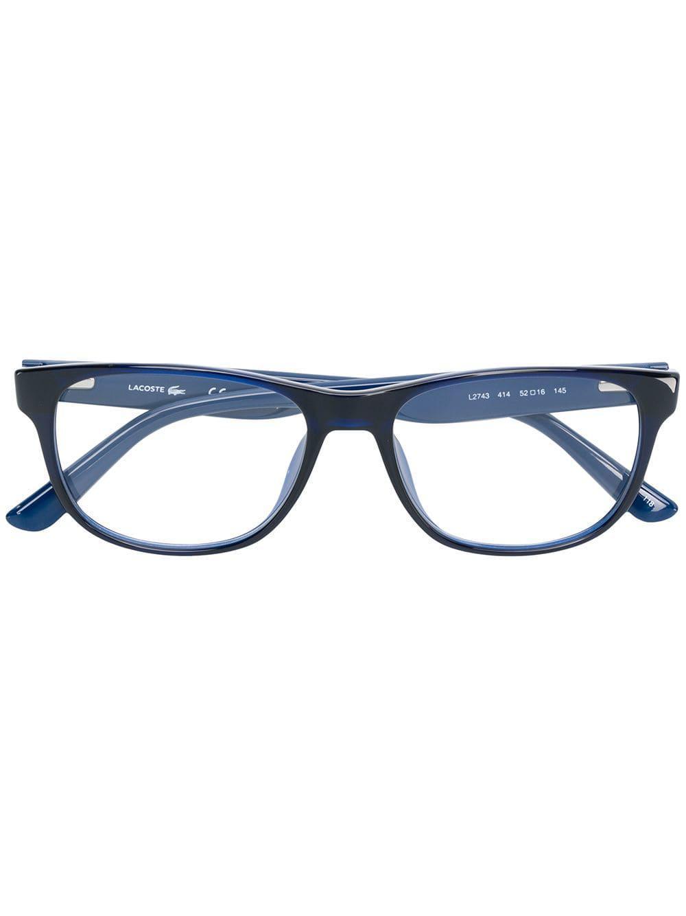 4c3c0dcb51 Lacoste Square Glasses in Blue for Men - Lyst