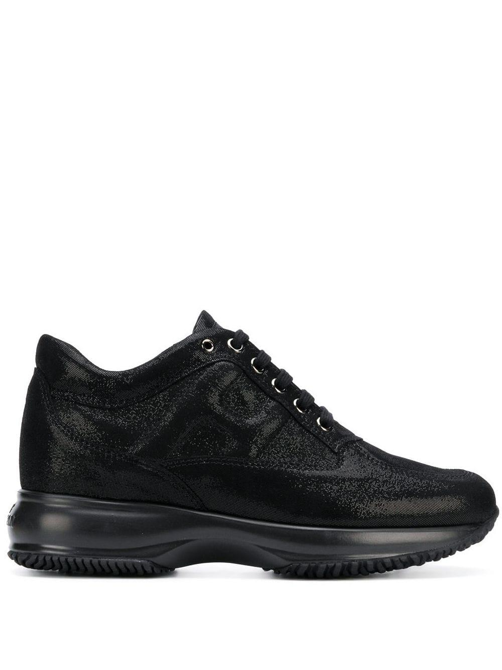 Hogan Suede Interactive 35 Sneakers in Black - Lyst