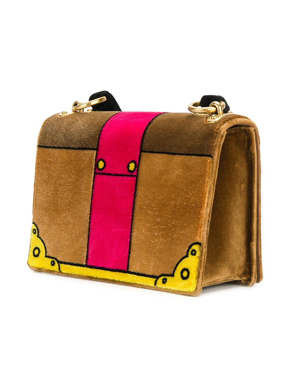 3ac25936c606 Lyst - Prada Cahier Cartoon Shoulder Bag in Brown