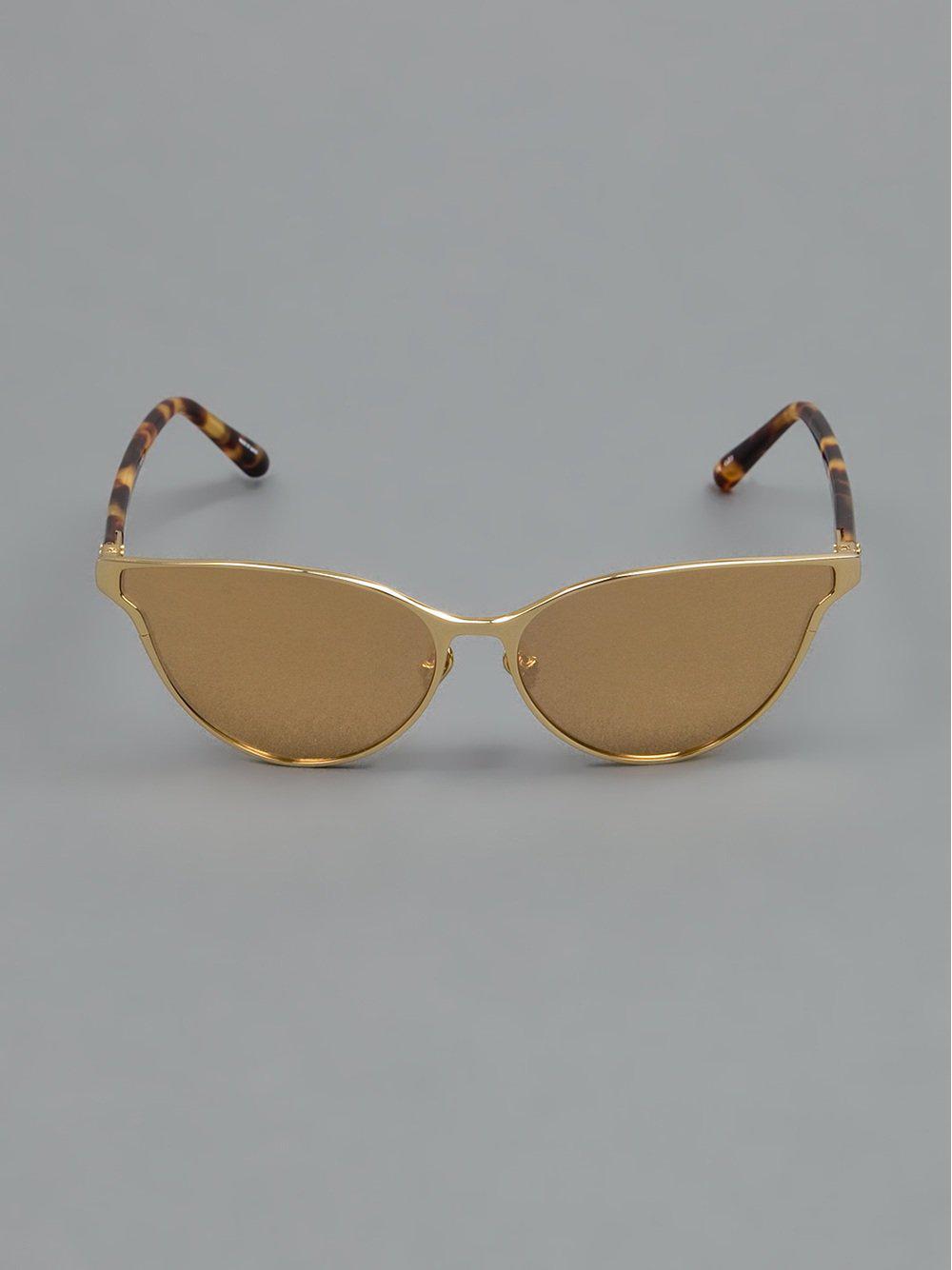 27c4c9c5878 Linda Farrow Contrast Leopard Print Sunglasses - Lyst