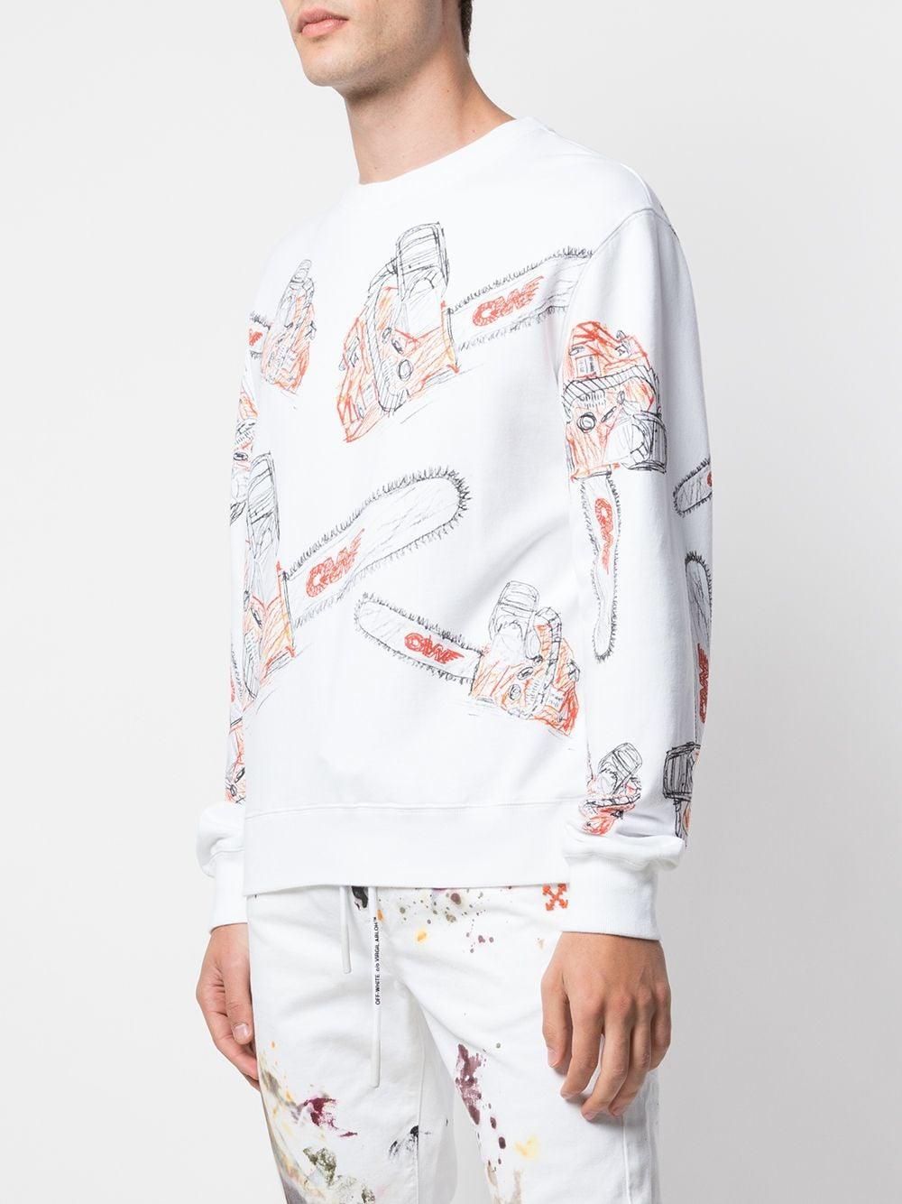 Off-White c/o Virgil Abloh Sweater Met Print in het Wit voor heren