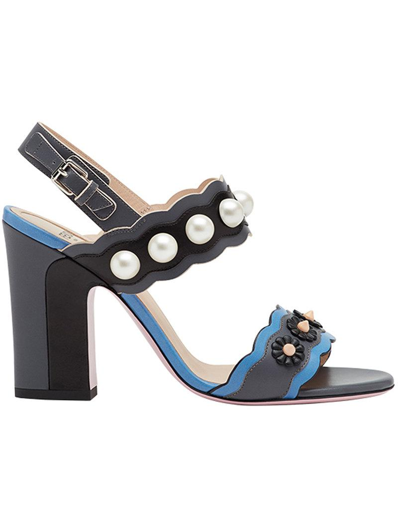 clearance affordable Fendi faux pearl embellished sandals sale release dates with mastercard sale 2014 unisex 9aL2dwHtn
