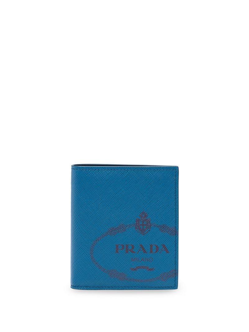 7cfa415354d7a3 Lyst - Prada Saffiano Leather Wallet in Blue for Men