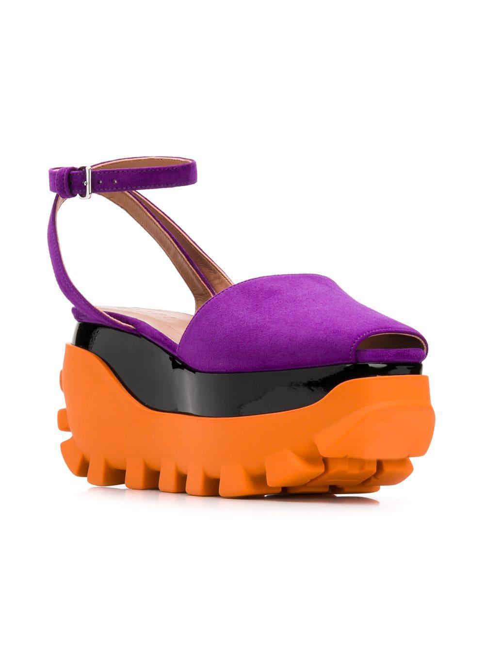 05fdf2e145c Lyst - Marni Platform Colour-block Sandals in Purple