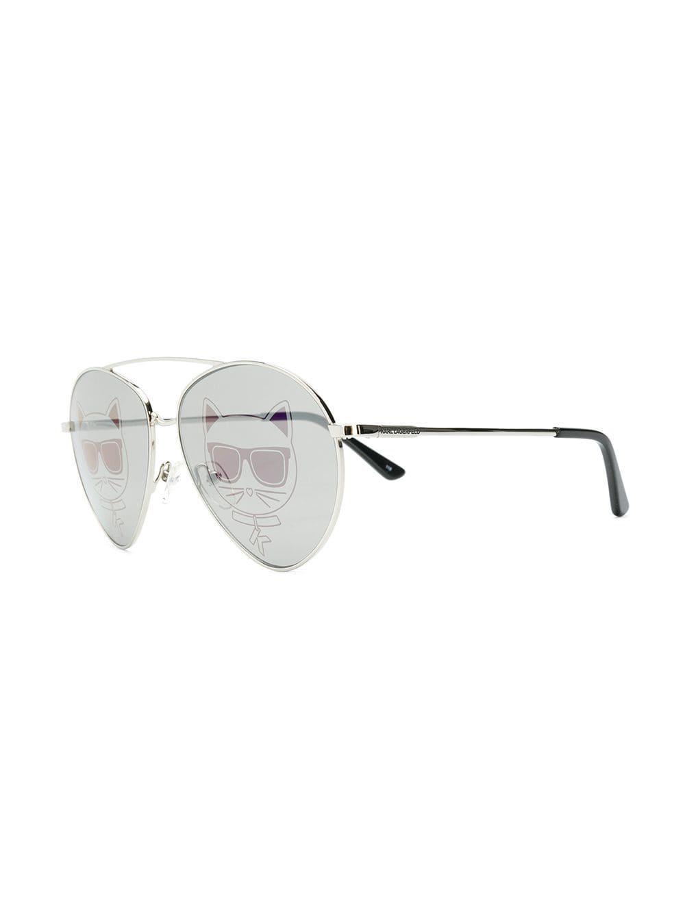 5d1f33442ef0 Karl Lagerfeld Kreative Sunglasses in Metallic - Lyst
