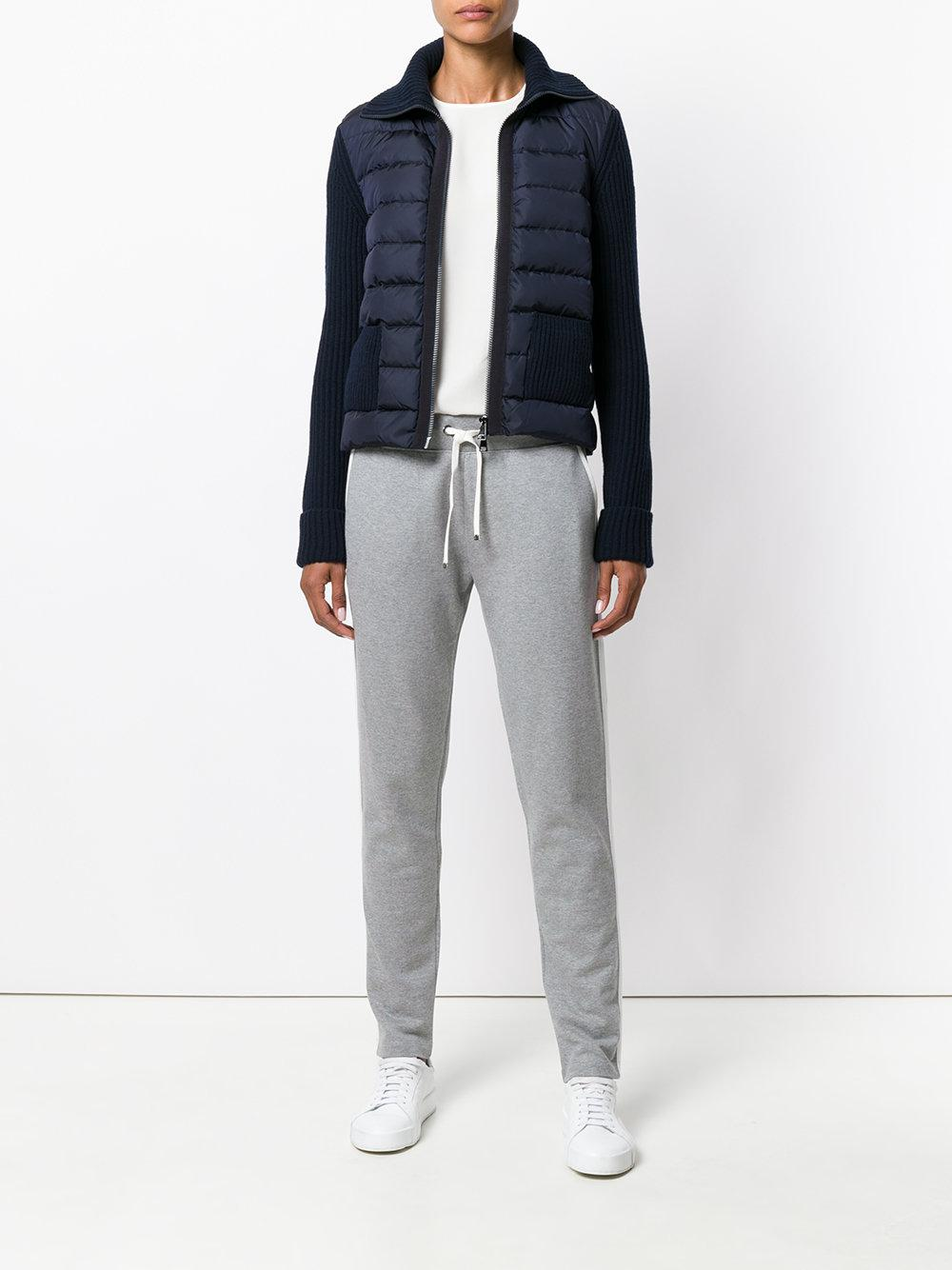 e919bd5af Lyst - Moncler Piped Track Pants in Gray