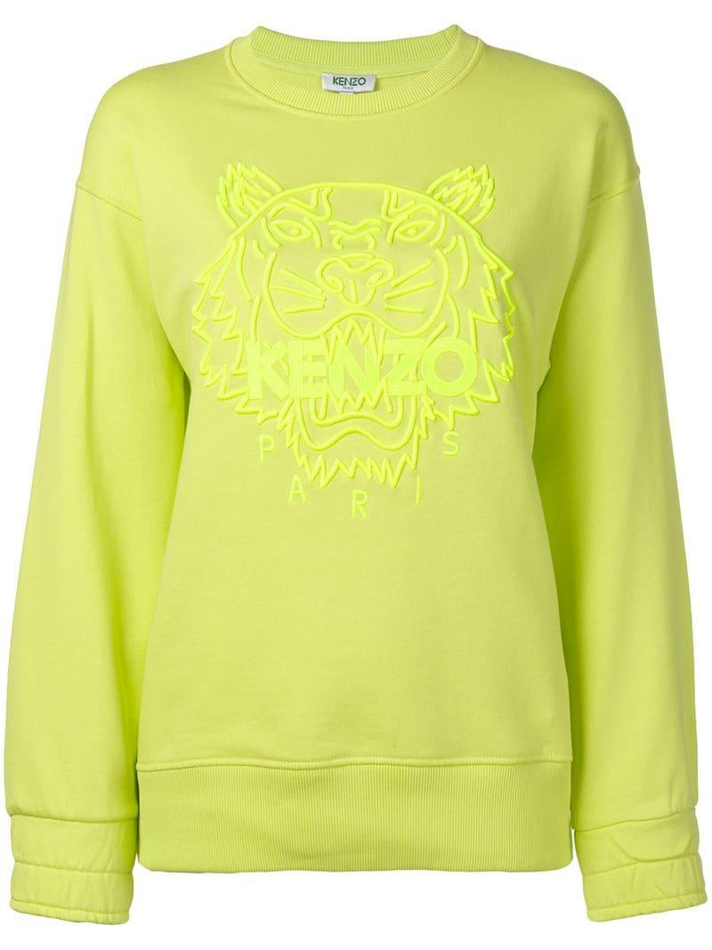8cf69ff7 KENZO - Yellow Logo Sweatshirt - Lyst. View fullscreen