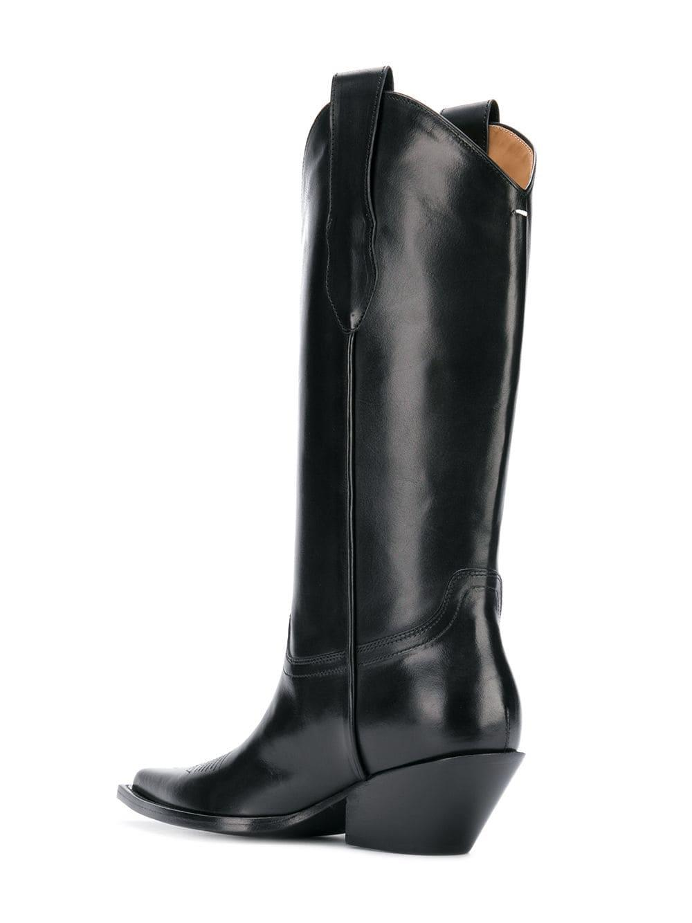 d16ff18a191 Maison Margiela Black Pointed Toe Cowboy Boots