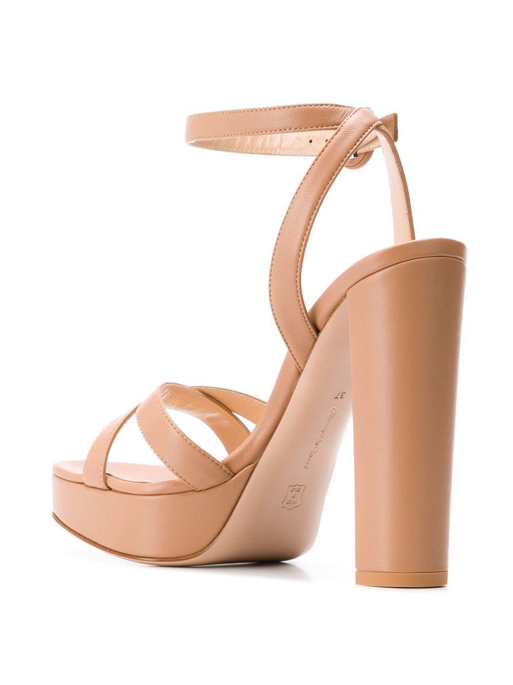 ea0aad2f26d7 Gianvito Rossi - Multicolor Poppy Platform Sandals - Lyst. View fullscreen