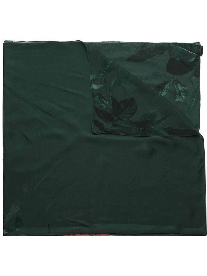 Rose Garden silk scarf - Green Osklen LfwaDY