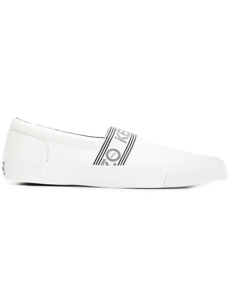 Kenzo Bande Logo Slip-on Chaussures De Sport - Noir DKdPNTt3