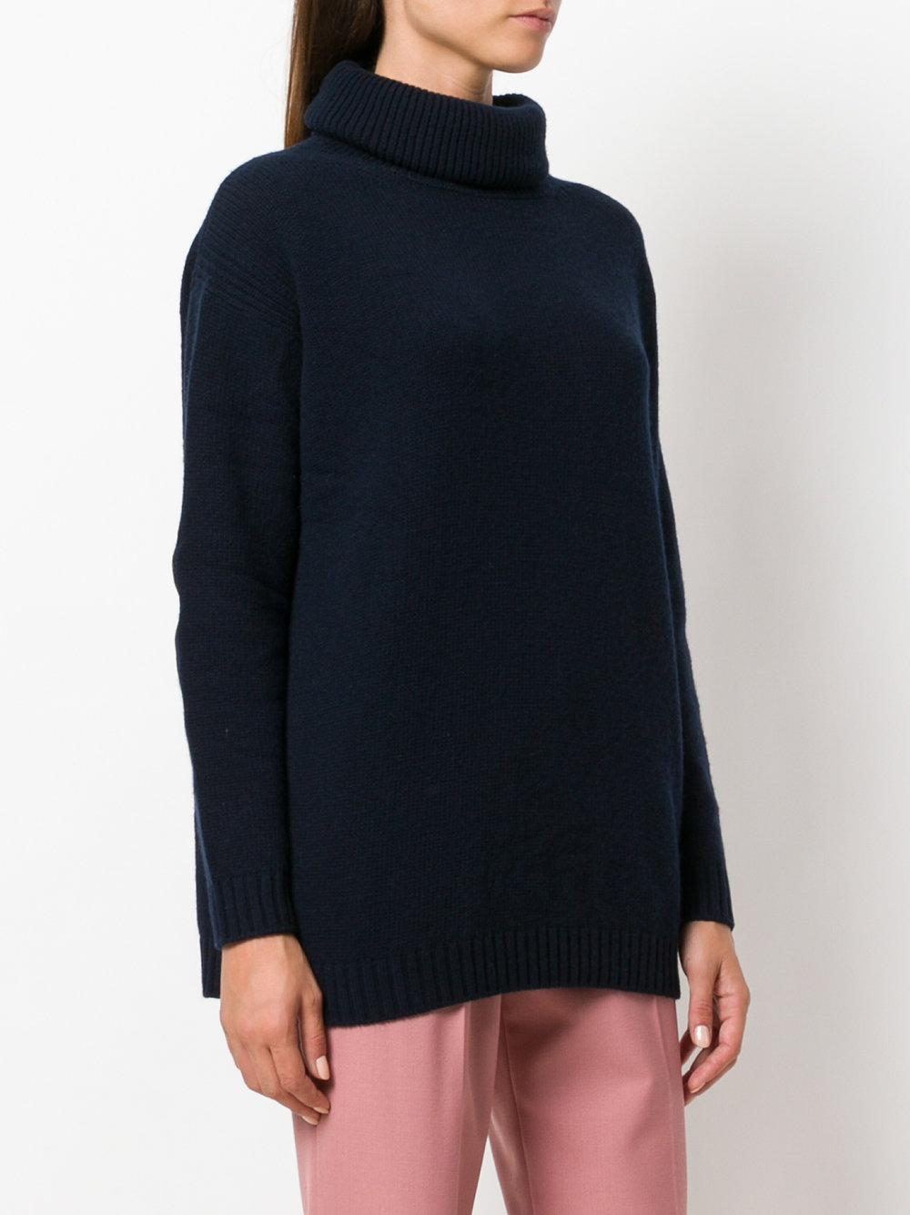 Knitted fabric Roll neck Long sleeve Cuffed trims Our model wears a UK 8 and is cm/5'9'' tall.