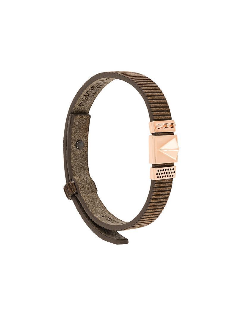 Northskull contrast panel bracelet - Brown xPZ8JAyOvM