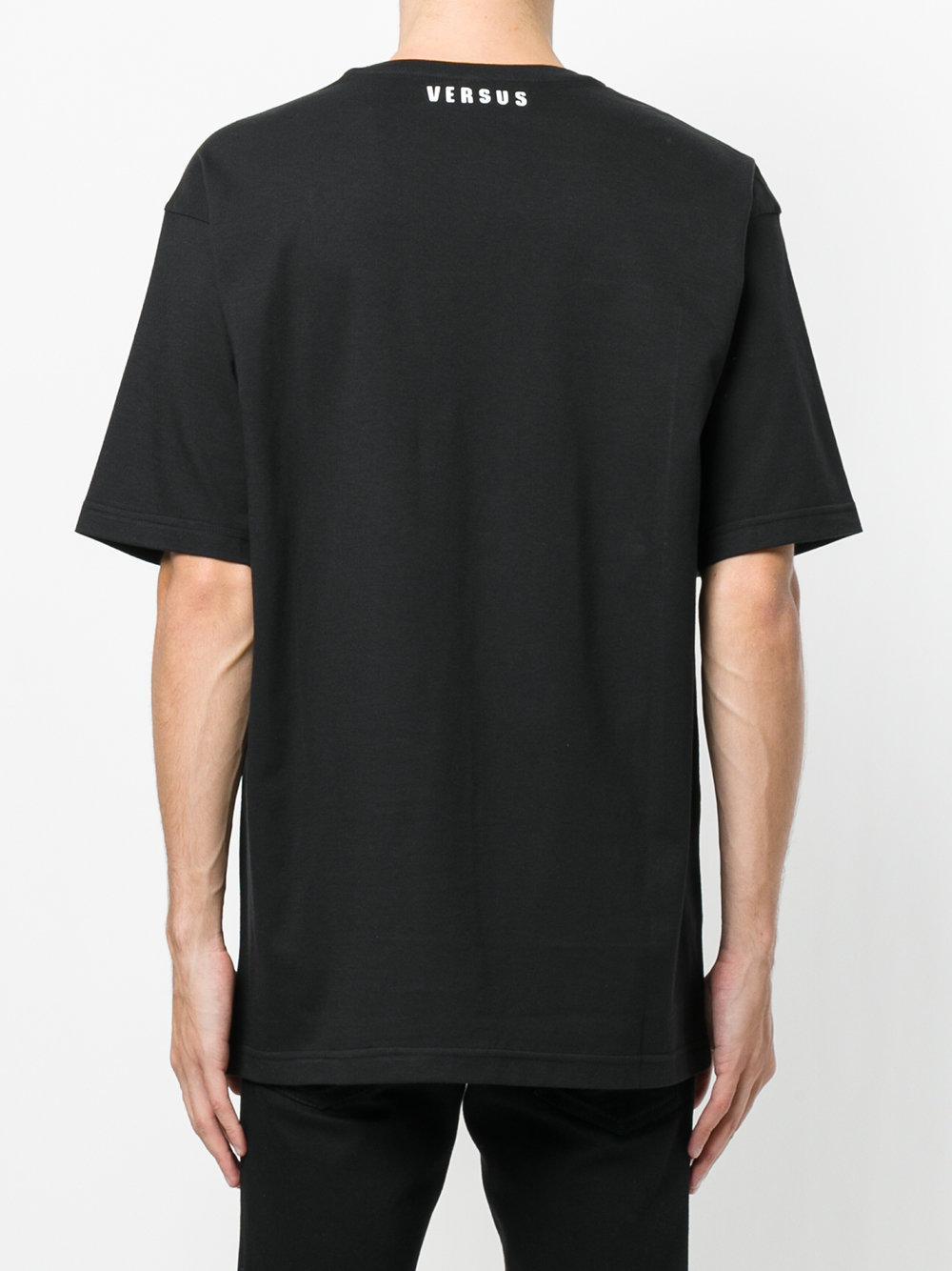 Lyst versus printed t shirt in black for men for T shirt printing mobile al