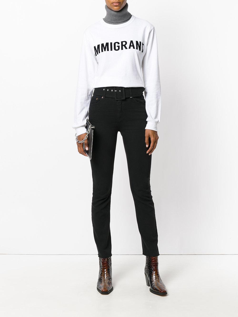 MM6 by Maison Martin Margiela Denim Belted Bootcut Jeans in Black