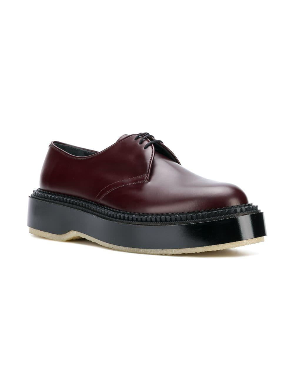 ec49d4666791 Undercover Platform Oxford Shoes in Red for Men - Lyst
