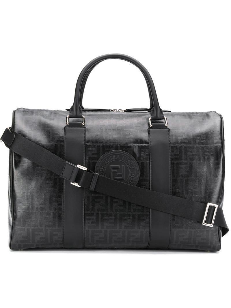 b5d638c653c7 Lyst - Fendi Monogram Satchel Bag in Black for Men