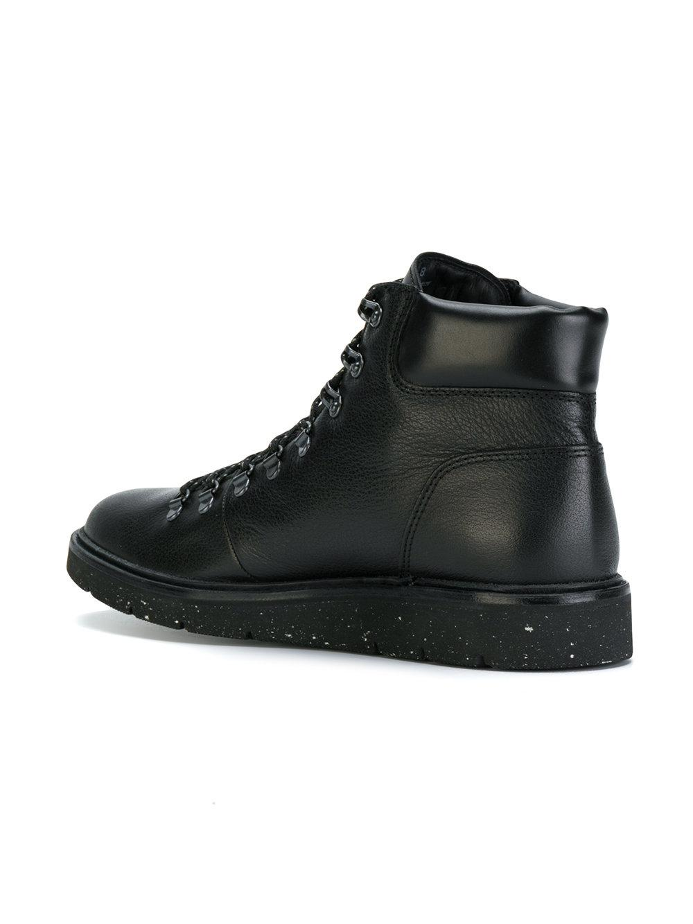 Hogan Leather Hiking Boots in Black for Men - Lyst