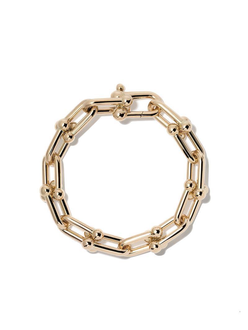 18kt yellow gold Tiffany City HardWear micro link bracelet - Metallic Tiffany & Co. X46s7MXby6