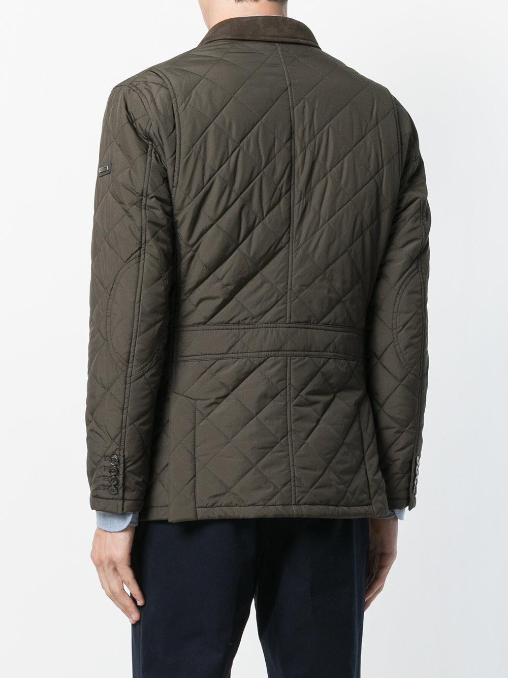 Lyst Hackett Quilted Lightweight Jacket In Green For Men