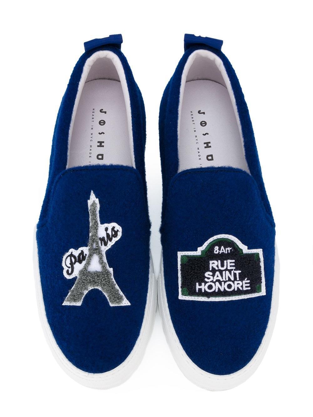 Joshua Sanders Wool 'eiffel Tower' Slip-on Sneakers in Blue (Brown)