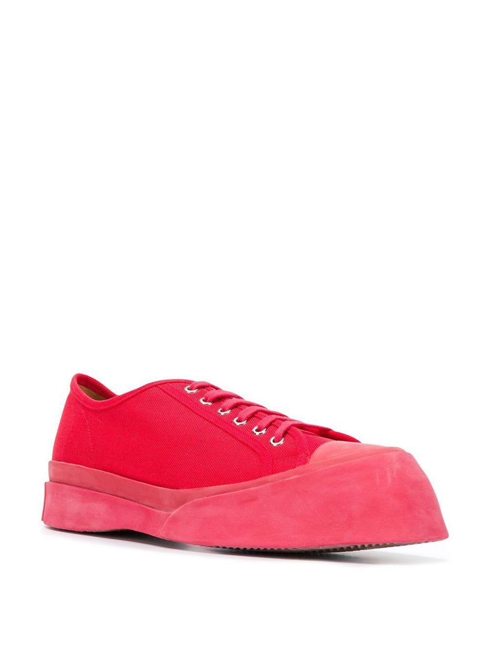 Marni Canvas Sneakers Met Verhoogde Neus in het Rood voor heren