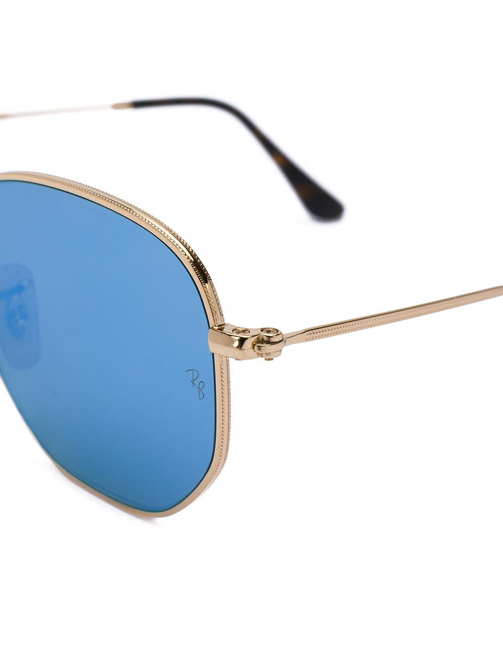 Ray-Ban Hexagonal Sunglasses in Metallic