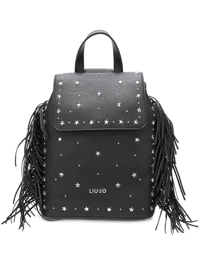 Liu Jo star studded fringed backpack Outlet Latest Discount Newest Outlet Visa Payment Websites For Sale Geniue Stockist Cheap Price TNzqzn