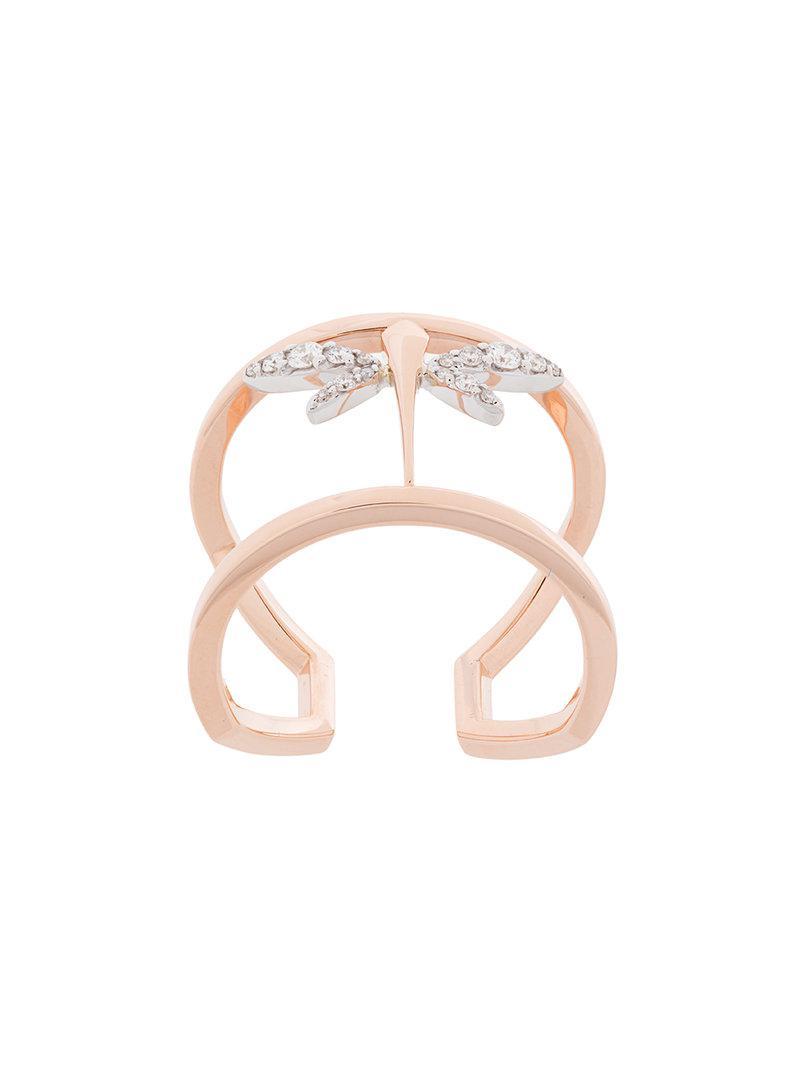 Anapsara mini dragonfly ring - Metallic Yxmn421T