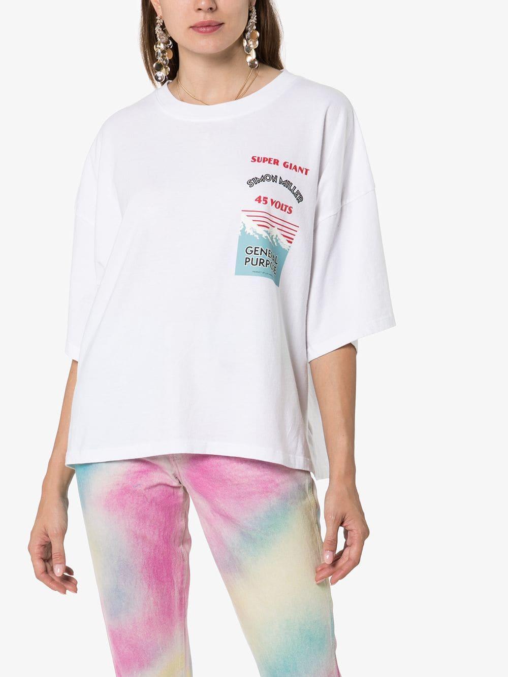 Camiseta estampada Simon Miller de Algodón de color Blanco