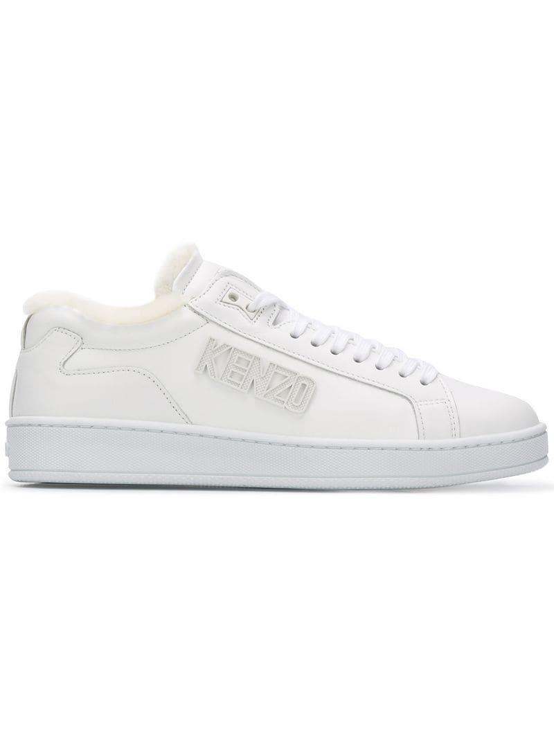 9da75d37bed5 Lyst - KENZO Tennix Sneakers in White