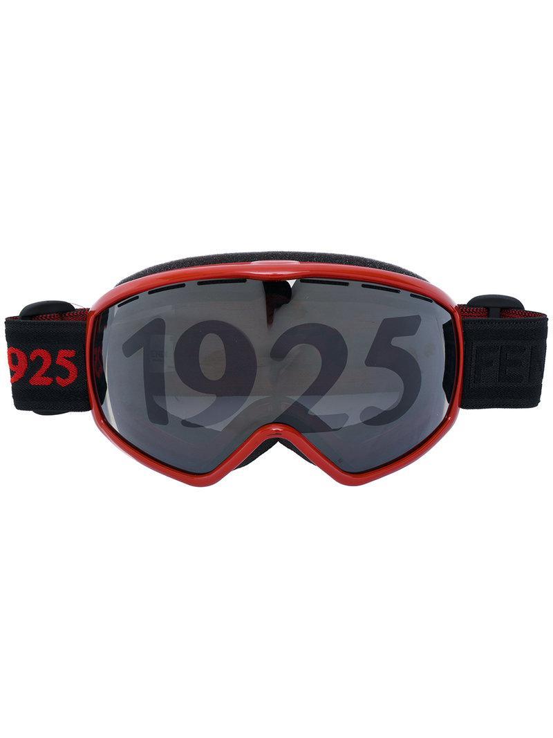 f5414dc8258 Lyst - Fendi 1925 Ski Goggles in Black for Men