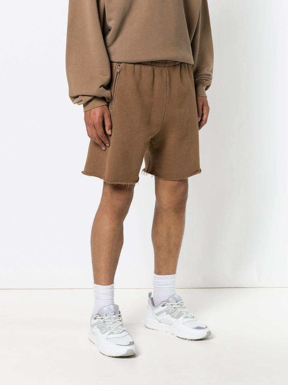 Yeezy Cotton High Waisted Track Shorts