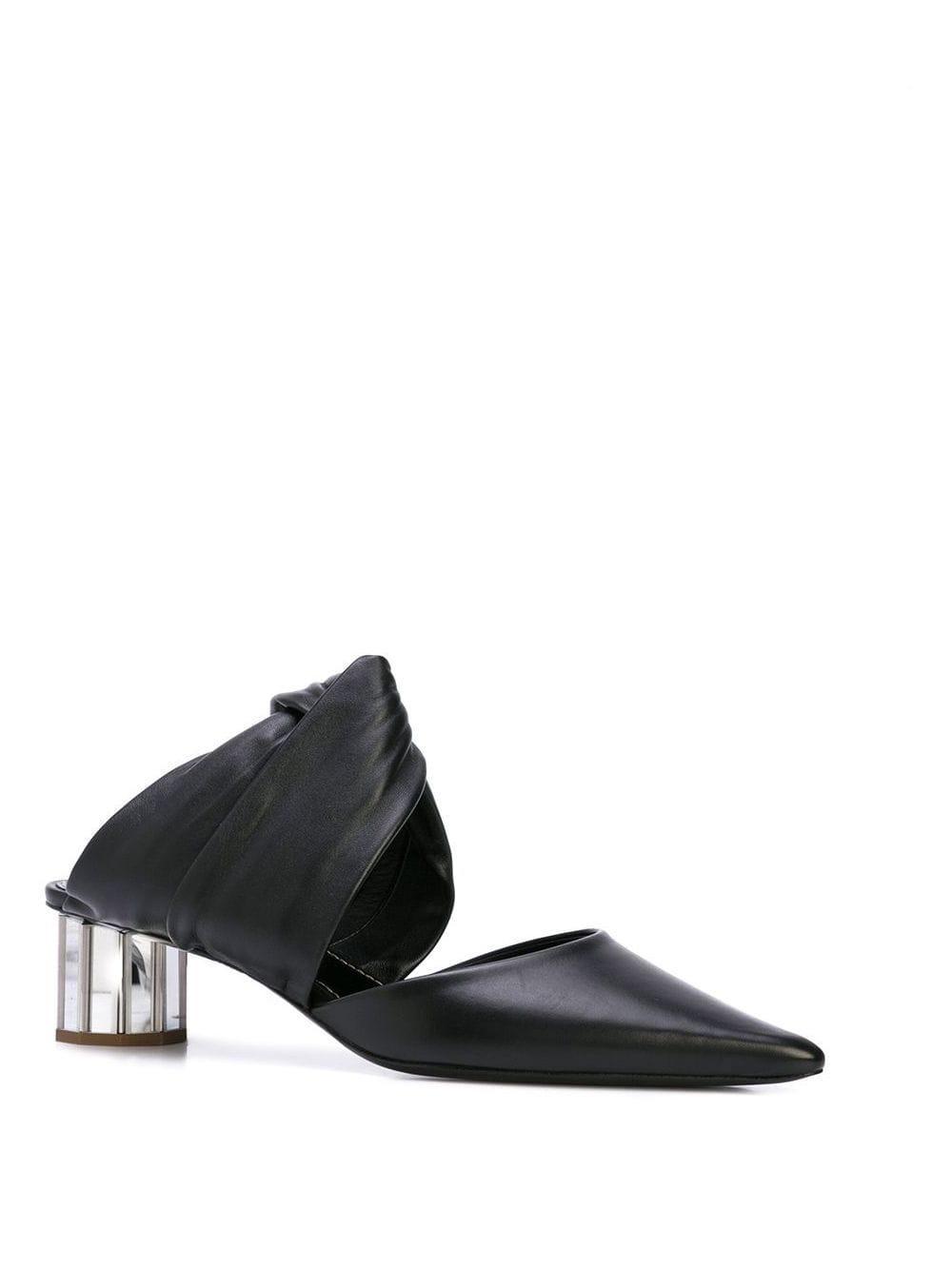Mules con tacón grueso Proenza Schouler de Cuero de color Negro