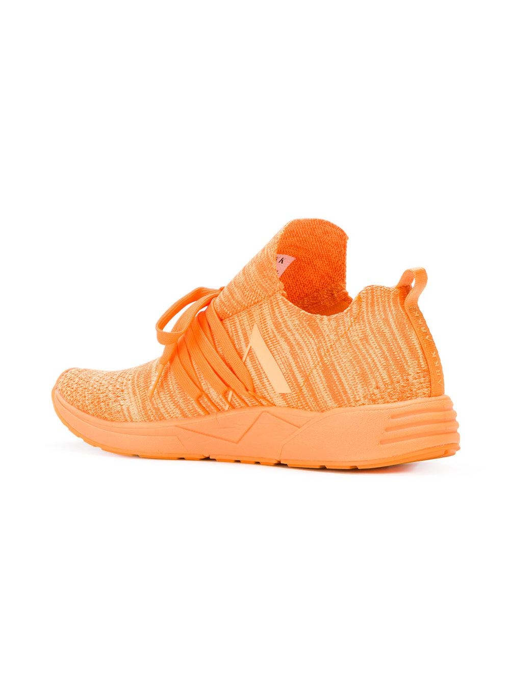 Arkk Rubber Raven Future Grid 2.0 Sneakers in Yellow & Orange (Orange)