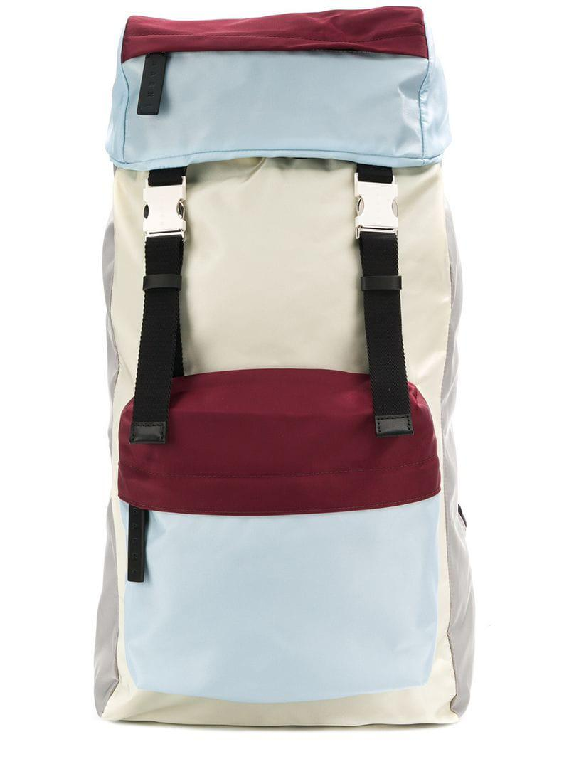 e1bade83c8 Lyst - Marni Colour Block Backpack in White for Men
