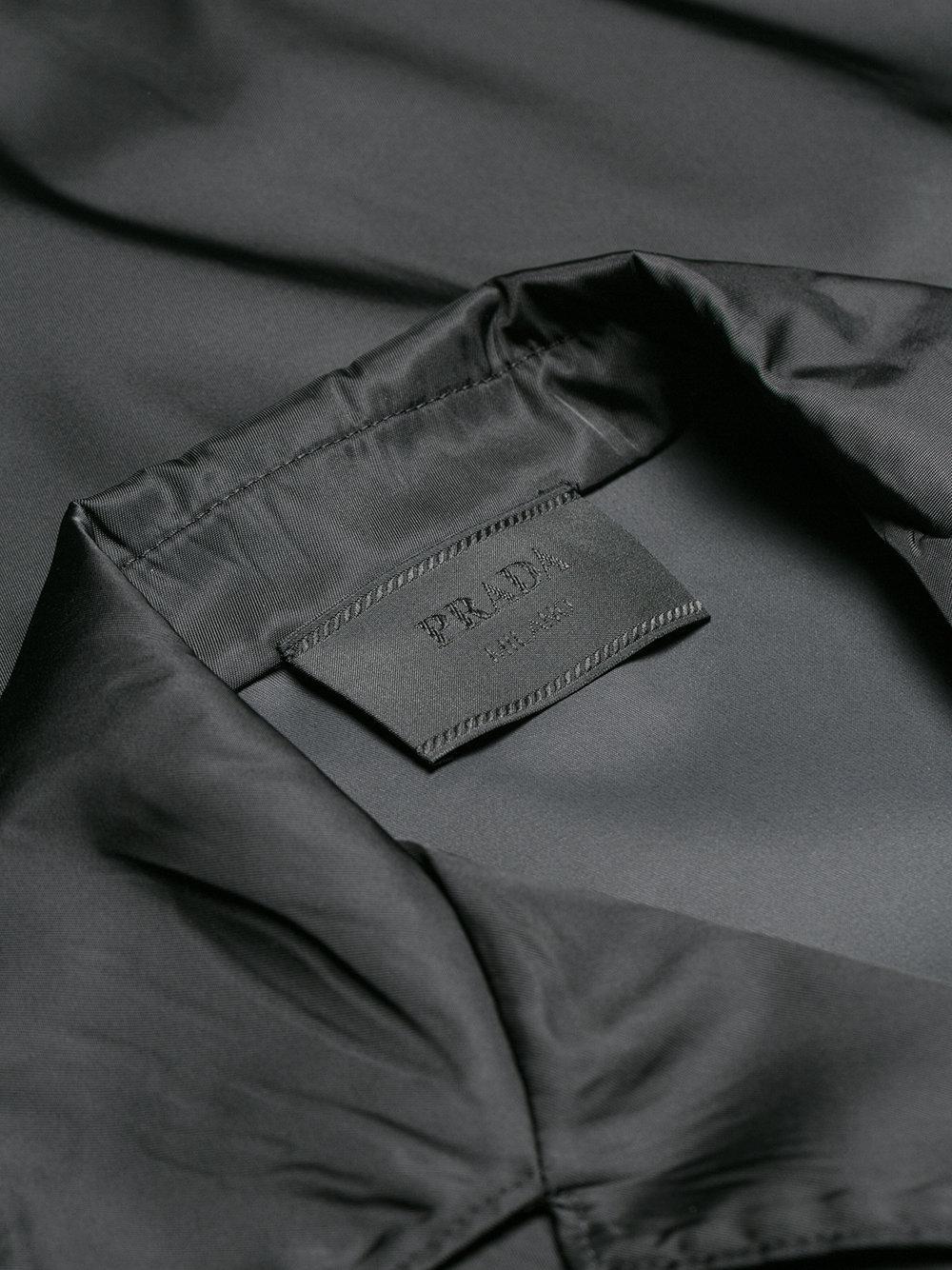 769ed405 Prada Black Open Collar Shirt for men