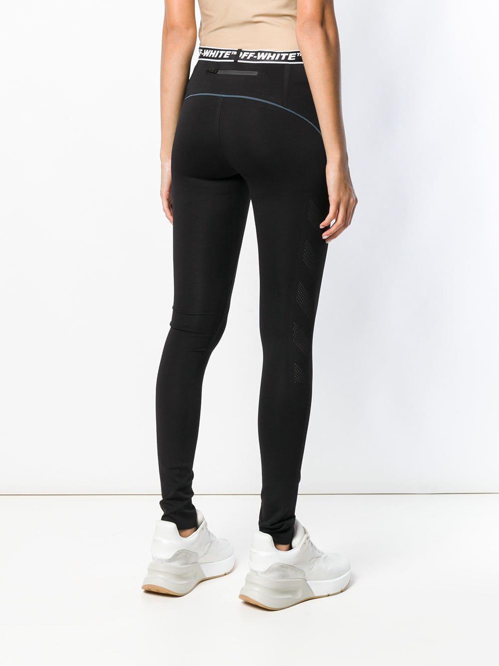 ba5099de33e5c0 Off-White c/o Virgil Abloh Logo Waistband leggings in Black - Save ...