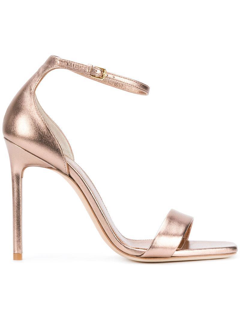 Amber ankle strap 105 sandals - Pink & Purple Saint Laurent 11XqExiwY