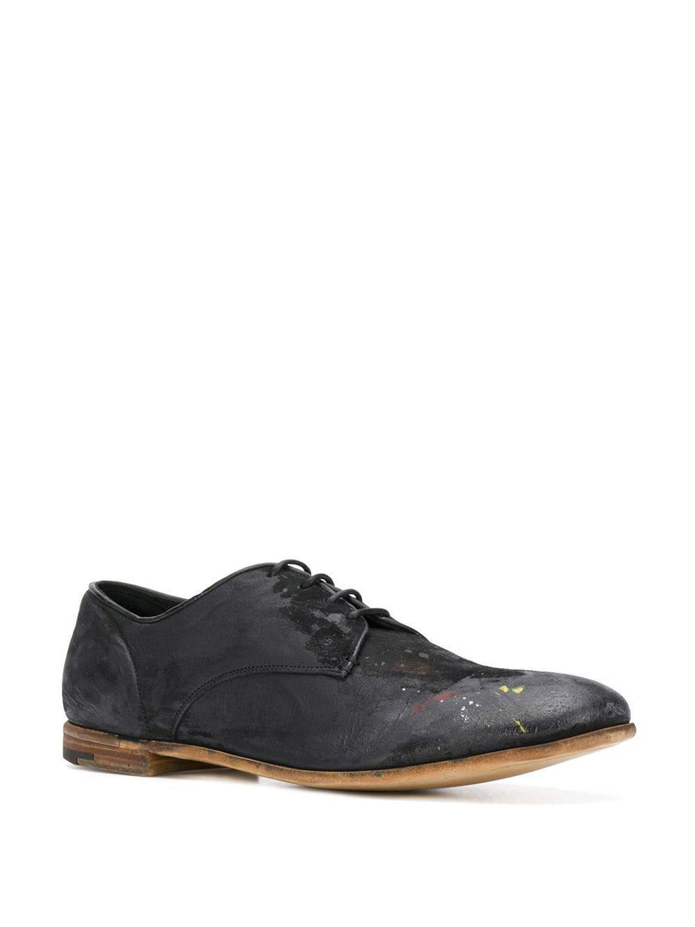 Premiata Suède Oxford Schoenen in het Zwart voor heren